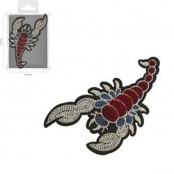 Ecusson Xl scorpion brodé 8x11cm