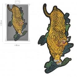 Ecusson Xl tigre brodé 15x30cm