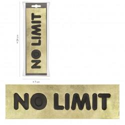"""Ecusson Xl impression """"no limit"""""""
