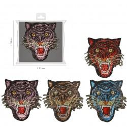 Ecusson Xl patch tigre sequins