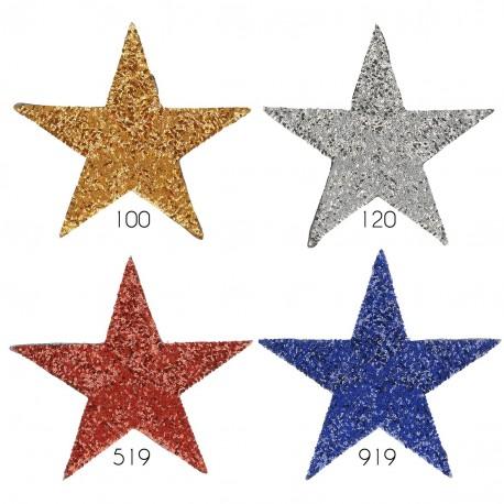 Ecusson Xl patch étoile sequins