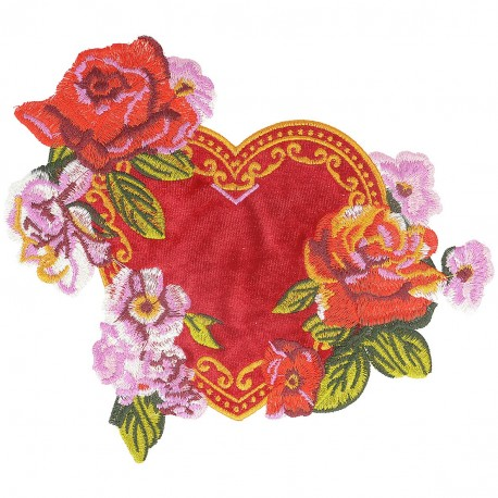 Ecusson Xl patch fleurs à coudre