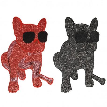 Ecusson Xl patch chien fashion à coudre