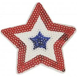 Ecusson Xl patch étoile strass