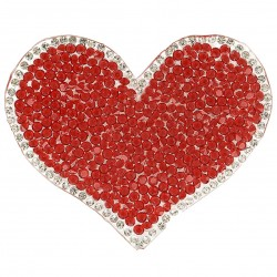 Ecusson Xl patch coeur strass
