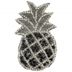 Ecusson Xl patch ananas strass