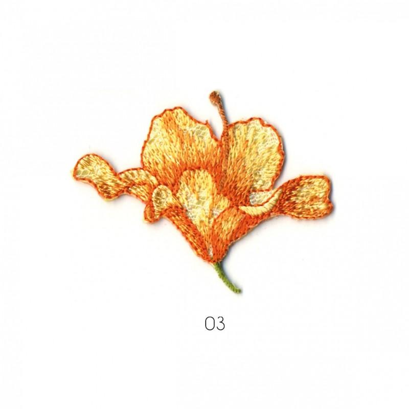 Ecusson Hibiscus/lys