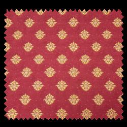 Tissu Jacquard Medicis Rouge Jaune