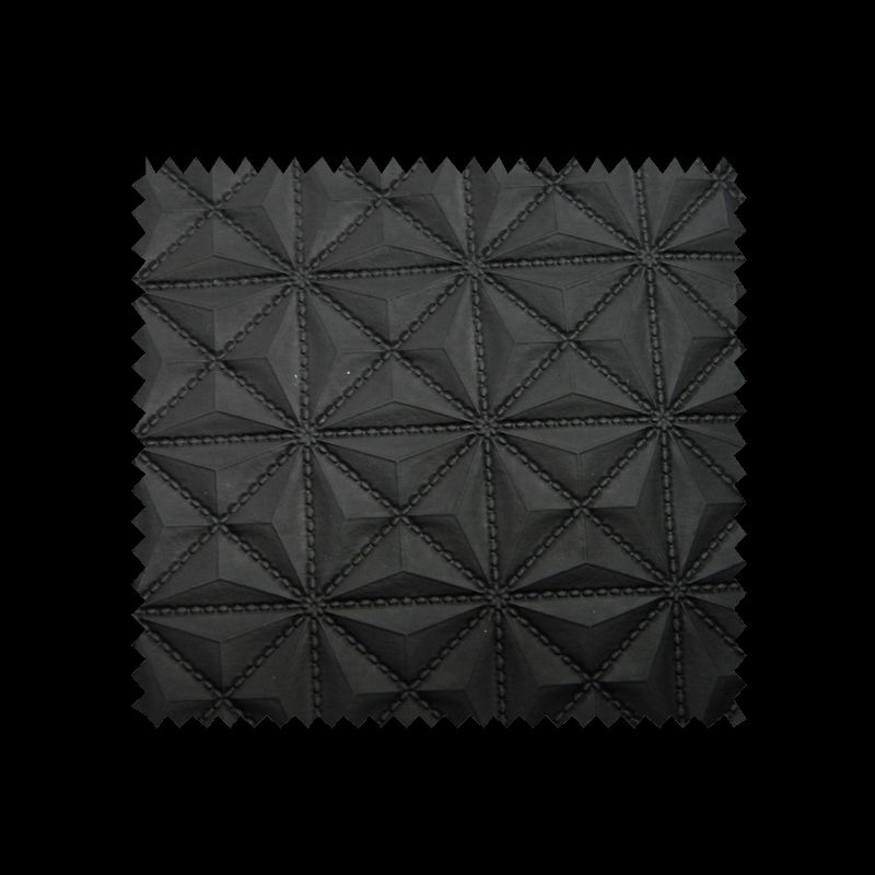 Tissu Simili Cuir Pyramide Noir