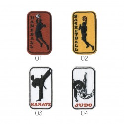 Ecusson Différents sports 5x3cm