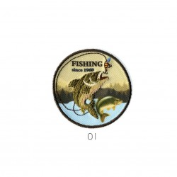 Ecusson fishing since 1960 5x5cm