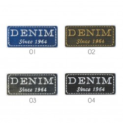Ecusson Denim since 1964 2,5x6