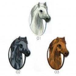 Ecusson Tête de cheval 5,5x3,5