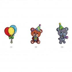 Ecusson Ours festifs/ballons