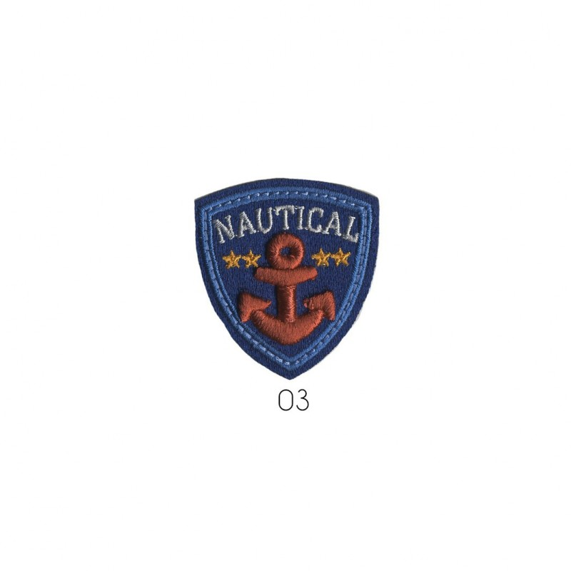 Ecusson Blason nautical 4,5x4cm