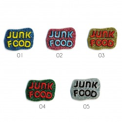 Ecusson Junk food 3x2,5cm