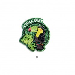 Ecusson Chill out 4x4cm