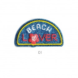 Ecusson Beach lover 6x3,5