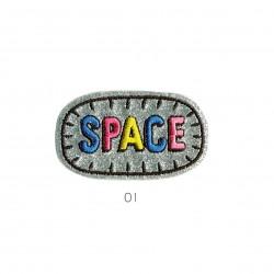 Ecusson Space paillettes 5,5x3