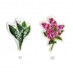Ecusson Muguet/lilas 4,5x3,5cm
