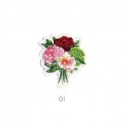 Ecusson Bouquet de fleurs 4,5x4