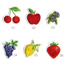 Ecusson Fruits brodés