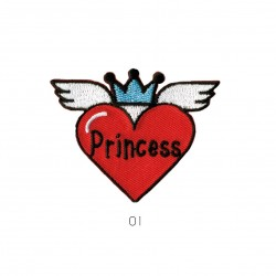Ecusson Coeur princesse 4,5x5,5