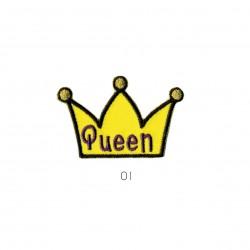 Ecusson Couronne queen 3x4,5