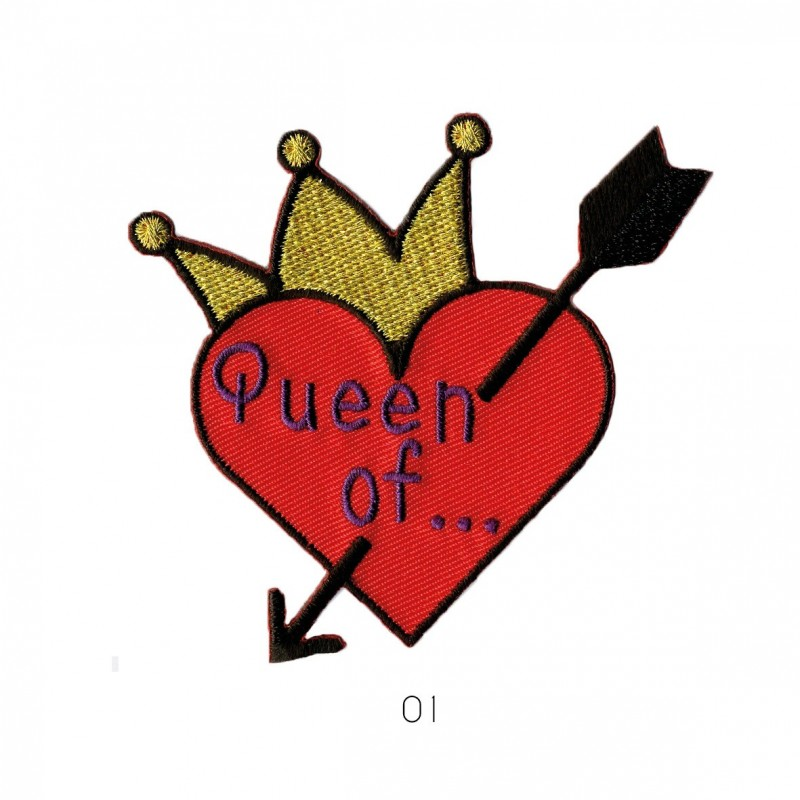 Ecusson Queen of...7x5cm