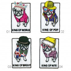 Ecusson Chien king of...5x4cm