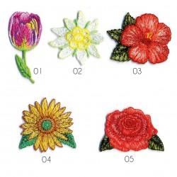 Ecusson La vie en fleurs