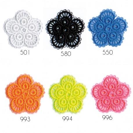 Ecusson Fleur broderie 2,5x2,5