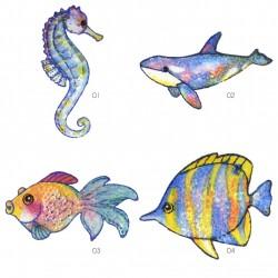 Ecusson monde marin