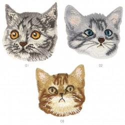 Ecusson visage de chat