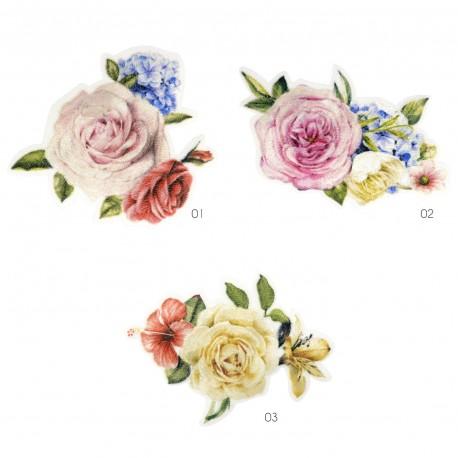 Ecusson roses