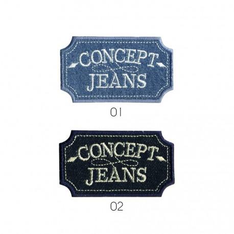 """Ecusson """"concept jeans"""""""