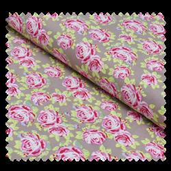 Tissu Coton Imprime Rose Fond Clair