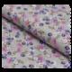 Tissu Coton Imprime Fleurs Multi Fond Gris