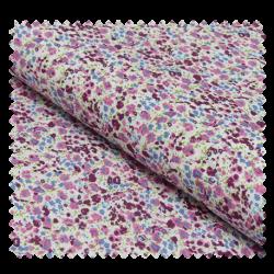 Tissu Coton Imprimé Fleurs Violettes