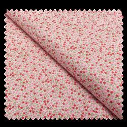 Tissu Coton Imprimé Petites Fleurs Rose