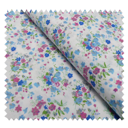 Tissu Coton Imprimé Petites Fleurs Multico