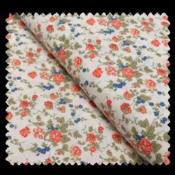 Tissu Coton Imprimé Fleurs Orange