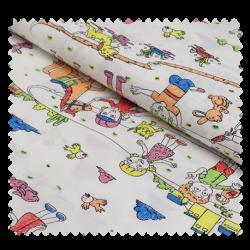 Tissu Coton Imprimé Cahier de Coloriage