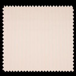 Tissu Popeline Coton Imprimé Rayure Blanc saumon