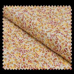 Tissu Coton Imprime Fleurs Orange
