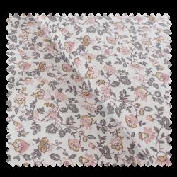 Tissu Coton Imprimé Fleurs Rose