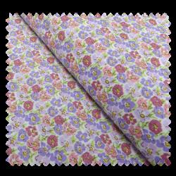 Tissu Coton Imprimé Fleurs Violet et Vert