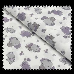 Tissu Coton Imprime Elephants