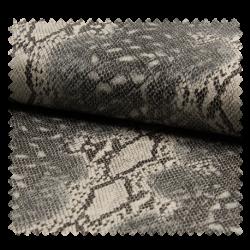 Tissu Simili Imprimé Serpent Gris