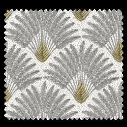 Tissu Atoll Jacquard Allover Noir Blanc et Jaune